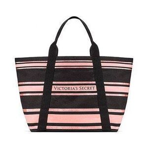 Victoria's Secret striped large tote bag